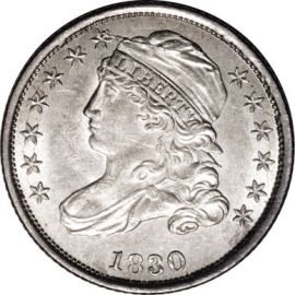 Capped Bust Dimes Beaded Border