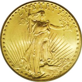 St Gaudens Double Eagle (with Motto)