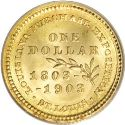1903 Louisiana Purchase Jefferson Gold Dollar Rev