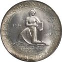 1936 Cincinnati Music Center Half Dollar Rev