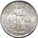 1937 Roanoke 350th Anniversary Half Dollar Rev