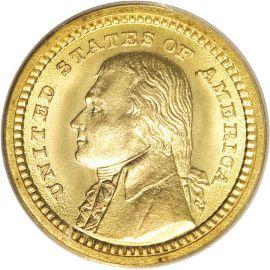 Louisiana Purchase Jefferson Gold Dollar