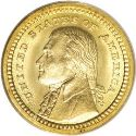1903 Louisiana Purchase Jefferson Gold Dollar Obv