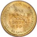 1903 Louisiana Purchase McKinley Gold Dollar Rev