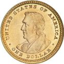 1904 Lewis and Clark Gold Dollar Rev