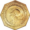 1915 Panama Pacific Fifty Dollar Gold Octagonal Obv