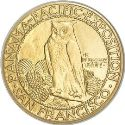 1915 Panama Pacific Fifty Dollar Gold Round Rev
