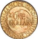 1915 Panama Pacific Gold Dollar Rev