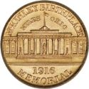 1916 Mckinley Memorial Gold Dollar Rev