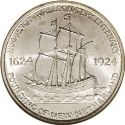 1924 Huguenot Walloon Tercentenary Half Dollar Rev
