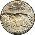1927 Vermont Sesquicentennial Half Dollar Rev