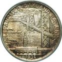 1936 Bay Bridge Half Dollar Rev