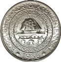 1936 Norfolk Virginia Bicentennial Half Dollar Obv